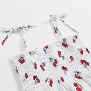 Baby Cherry Allover Print Strappy Dresses