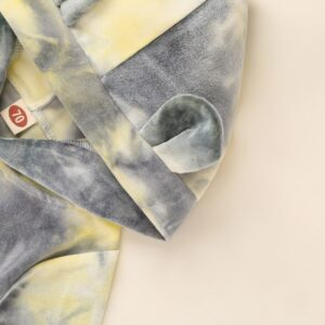 Baby Tie-Dyed Hooded Jumpsuit – Grey