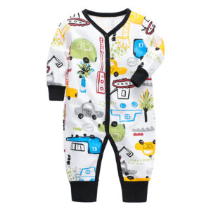 Beautiful 100% Cotton Baby Boy Cars Print Coverall