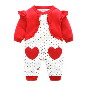 Baby Girl Beautiful High Quality Coverall – Red