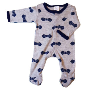 Baby boy cotton coverall – Grey