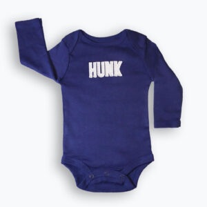 Baby Boy Cotton Long Sleeve bodysuit – Blue
