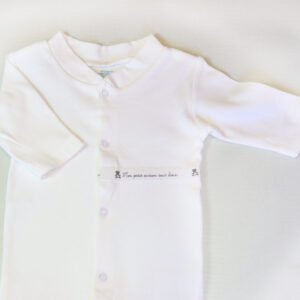 Baby Cotton Coverall – White