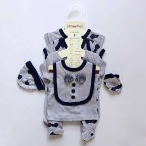 Baby Boy Gift Set 100%Cotton 8pcs – Grey