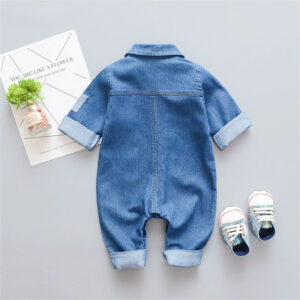 Fashion Designed Denim Baby Romper