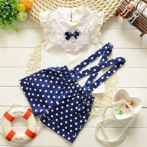 Girls Summer 2pcs Overall and t-shirt set Outfit