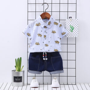 2 Piece Boys Shirt and Short Set Is Perfect Outfit