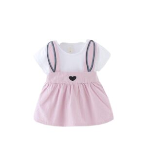Cute Baby Girl Soft Comfy Dress – Violet