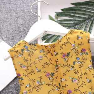 Summer Outfit Girls Dress Floral Printing Fashion