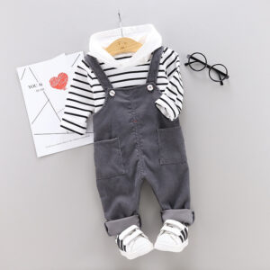 2 piece Overall Pant and Hooded T-shirt Set