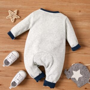 Baby Boy High Quality Warm Double Layer Elephant Print Romper