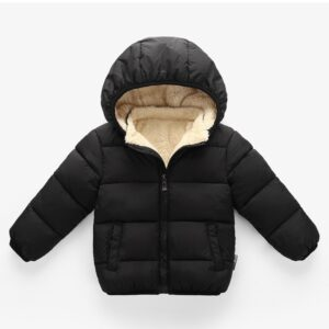 Baby/Toddler Causal Fluff Solid Long-sleeve Hooded Zipper Coat