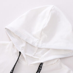 White Hooded Boy Suit 2pcs Set