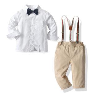Formal White Shirt and Pants Set