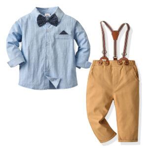 Formal Blue Shirt and Pants Set