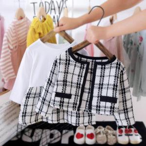 Girl white 2pcs Dress and Jacket set