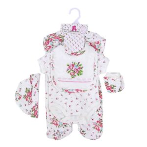 Baby Girl Romper Gift Set 100%Cotton 5pcs