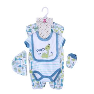 Baby Boy Gift Set 100%Cotton 5pcs