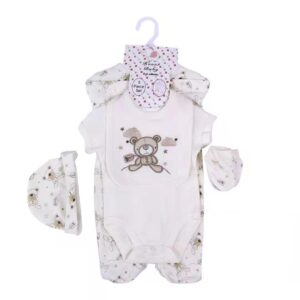 Baby Romper Gift Set 100%Cotton 5pcs