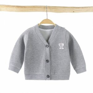 Knitted Warm Long-Sleeve Front Button Cardigan