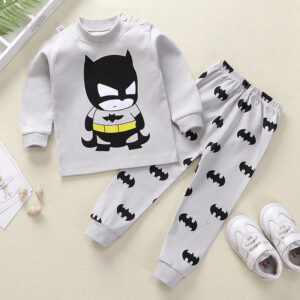 High Quality 100% Cotton Baby Boy Batman Suit 2 piece Set –