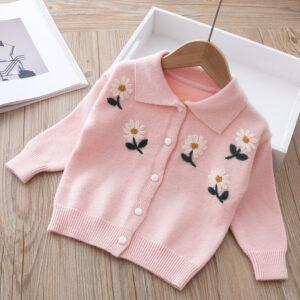 Baby Girl Warm Pink Cardigan