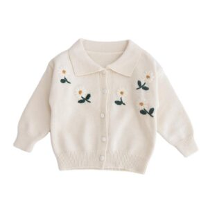 Baby Girl Warm Off White Cardigan