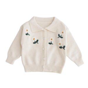 Baby Girl Warm Off White Cardigan