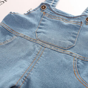 2pcs Overall Denim and Shirt Set