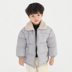 Grey Winter Warm Puffer Jacket