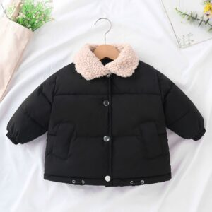 Black Winter Warm Puffer Jacket