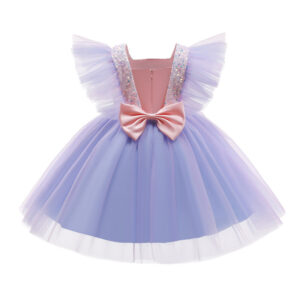8 Layered Formal Birthday Dresses For Girls  Elegant Party Sequins Tutu Gown
