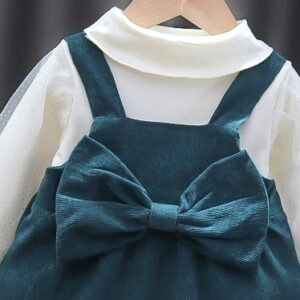 Girl white 2pcs Dress and Top Set